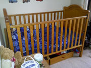 Cot Bed MAMAS & PAPAS *Soild Pine- bigger than average with drawers