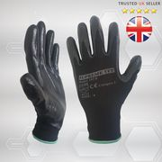 NITRILE COATED WORK GLOVES GRIP BUILDERS MECHANIC CONSTRUCTION